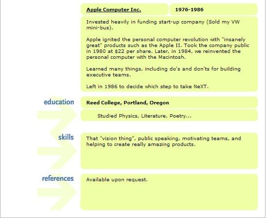 steve jobs resume resume badak